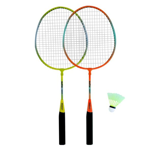 Kit De Badmington - Junior - Sixzero - 2 Raquetas + 1 Pluma- Con Funda