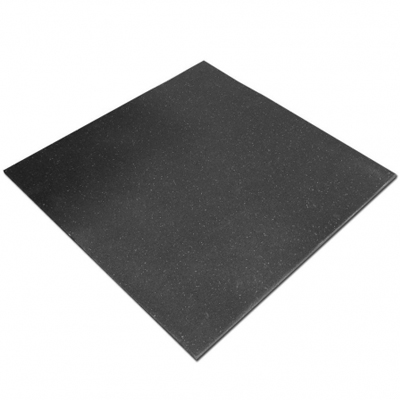 Piso Caucho Reciclado De 1 X 1 Mts -10 Mm - Para Crossfit - Color Negro