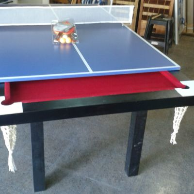 Tabla De Ping Pong.  Med. 1.85 X 1.1 Mts  Con Red . Para Mesa De Pool.