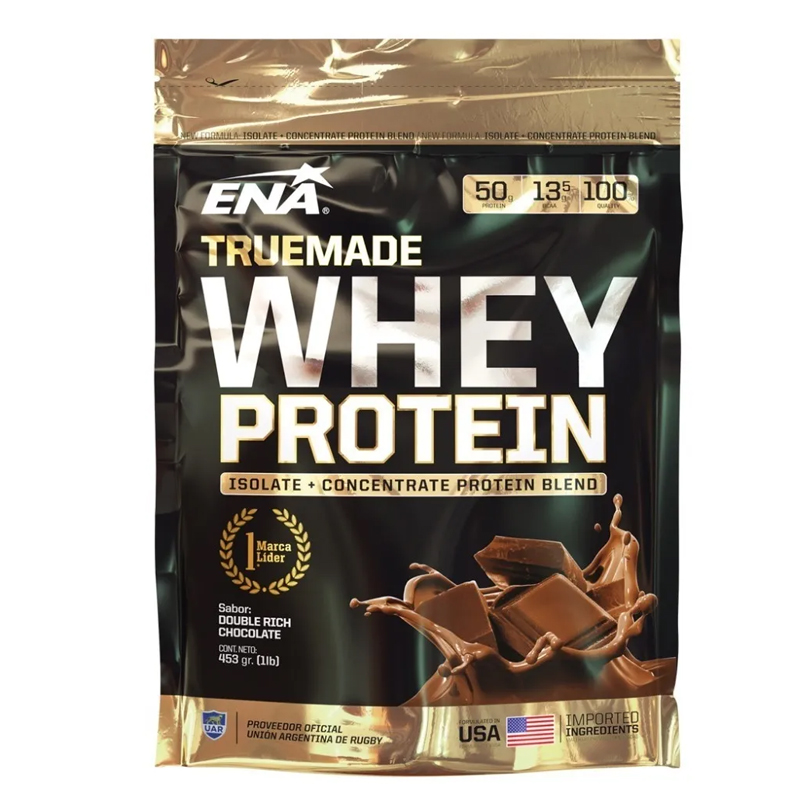Whey Protein 453 Grs. ( 1 Libra) Vainilla-chocolate-cookies And Cream-frutilla -  Ena