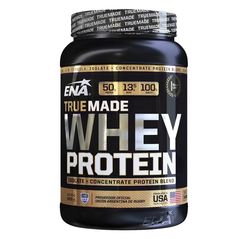 Whey Protein -true Made-  1000 Grs - Frasco -  Vainilla-chocolate-cookies And Cream-frutilla -marca Ena